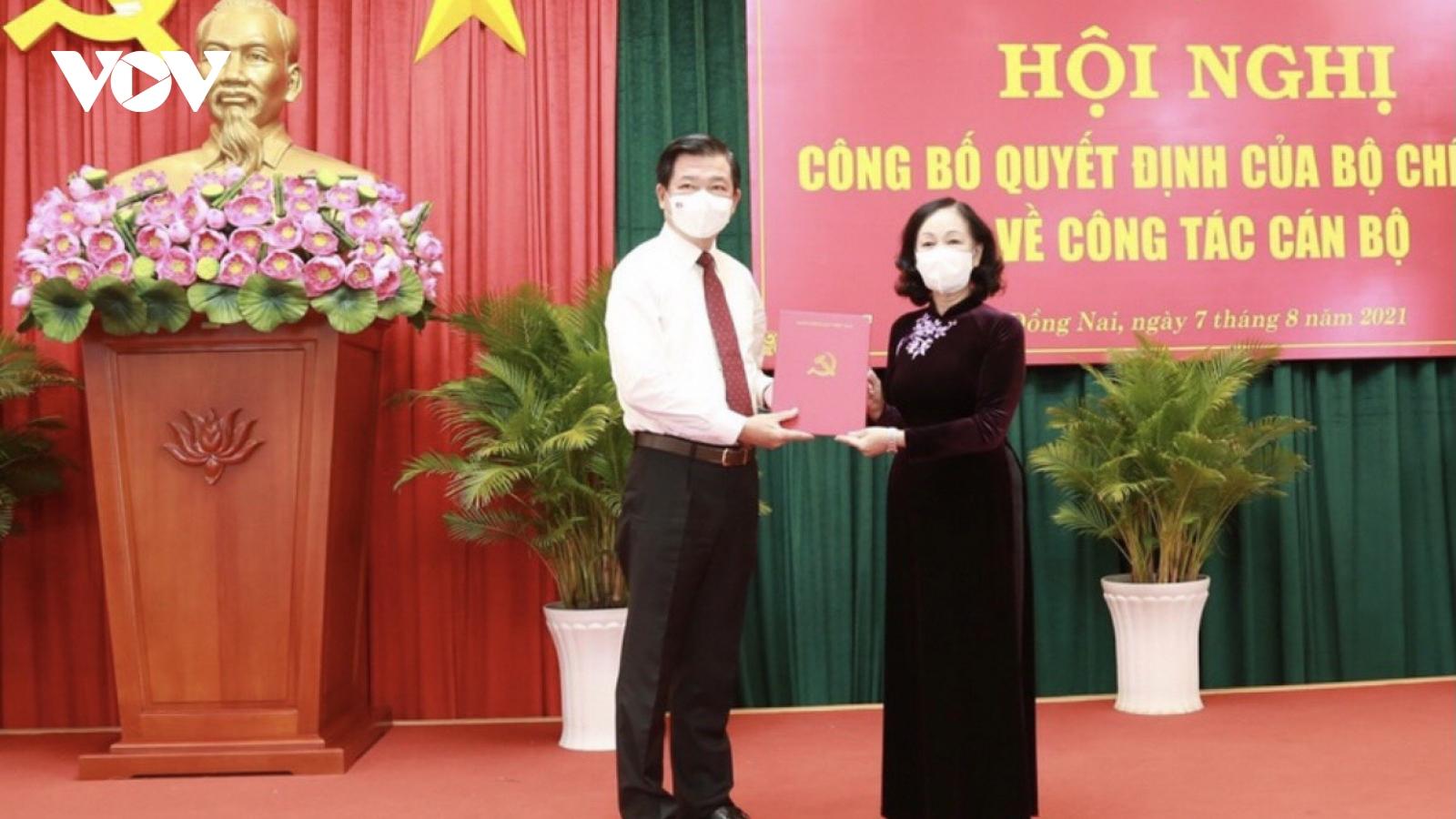 Ông Nguyễn Hồng Lĩnh giữ chức Bí thư Tỉnh ủy Đồng Nai