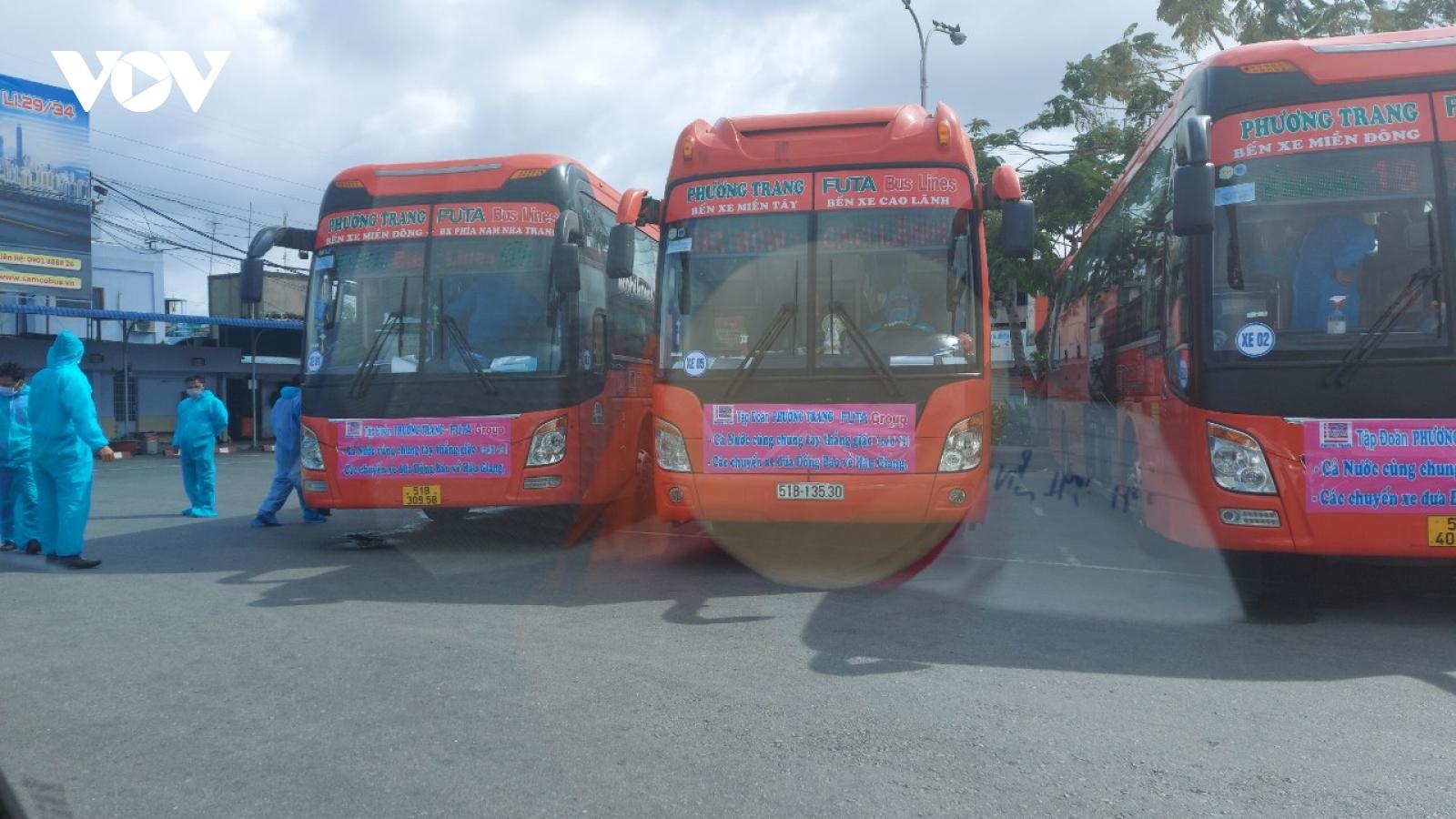 Bạc Liêu: Đón 250 công dân từ TP Hồ Chí Minh về trong đợt 1
