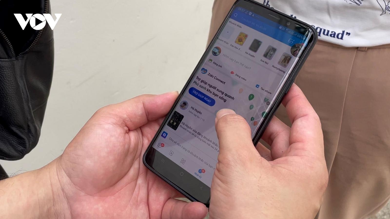 Sàng lọc thông tin ảo trên Zalo Connect để tìm người cần giúp đỡ