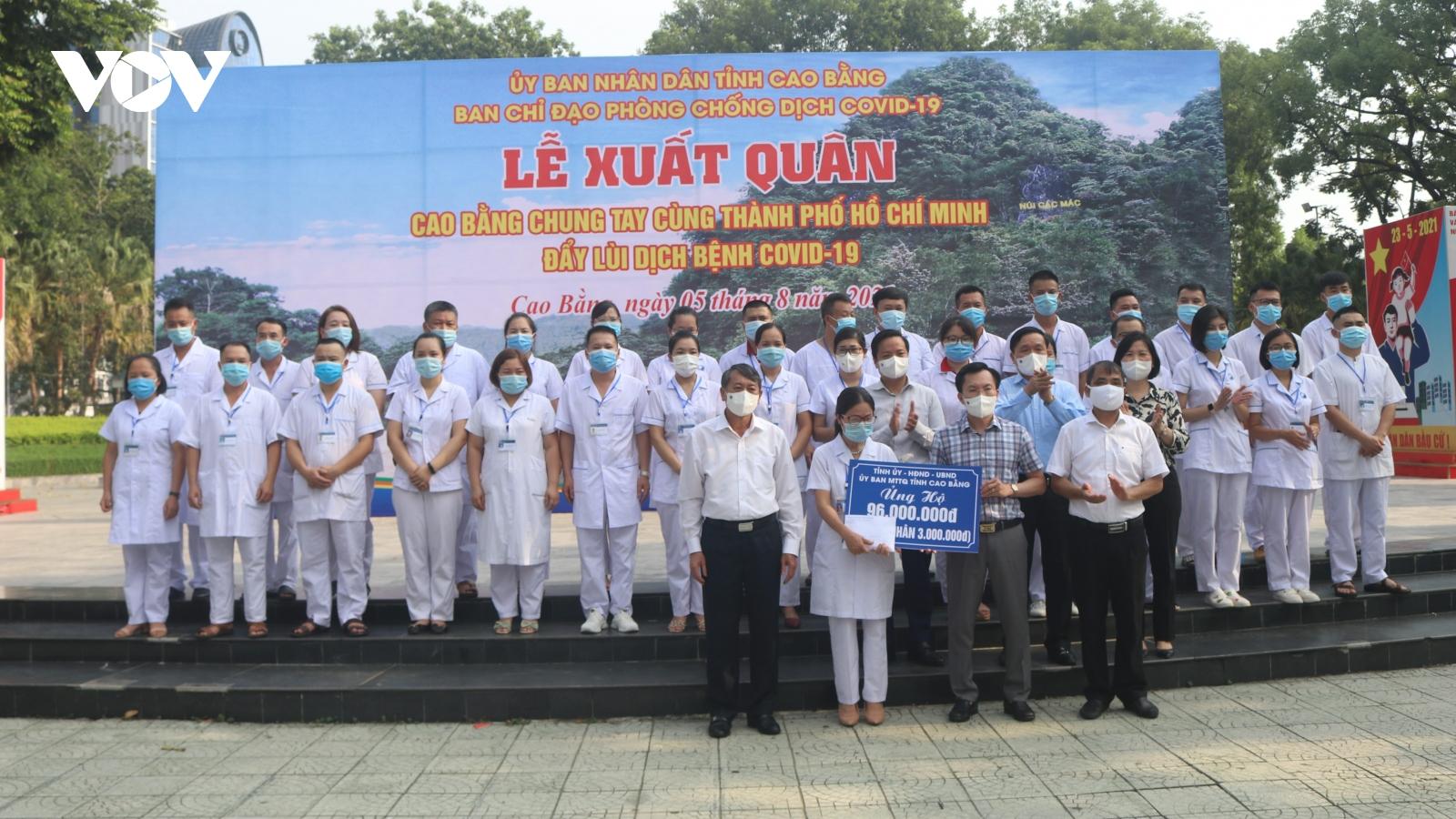 Cao Bằng, Bắc Kạn xuất quân chi viện cho TP. HCM chống dịch