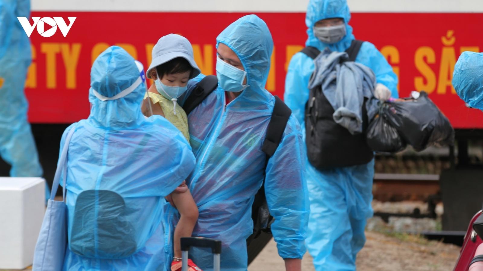 Quảng Trị đón hơn 500 công dân ở các tỉnh phía Nam về quê an toàn