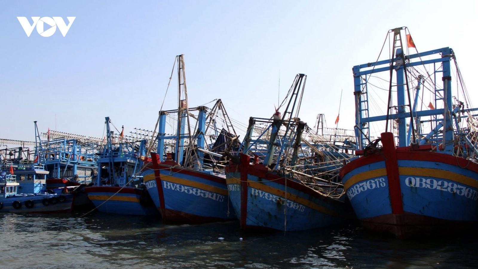 Tàu cá ởBà Rịa - Vũng Tàunhận lệnh tạm dừng ra khơi