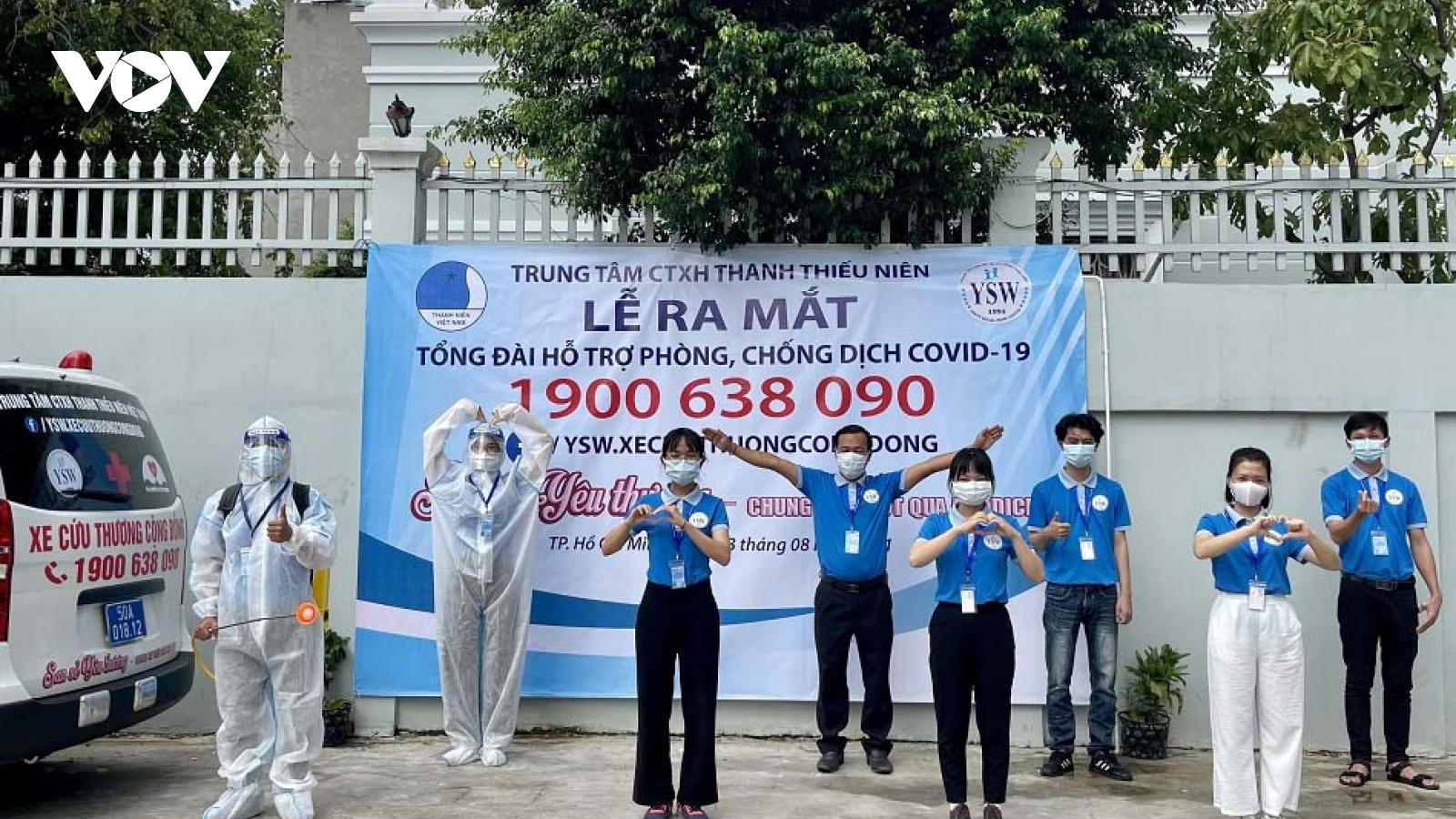 Kích hoạttổng đài1900 638 090 hỗ trợ bệnh nhânCOVID-19ở TP.HCM