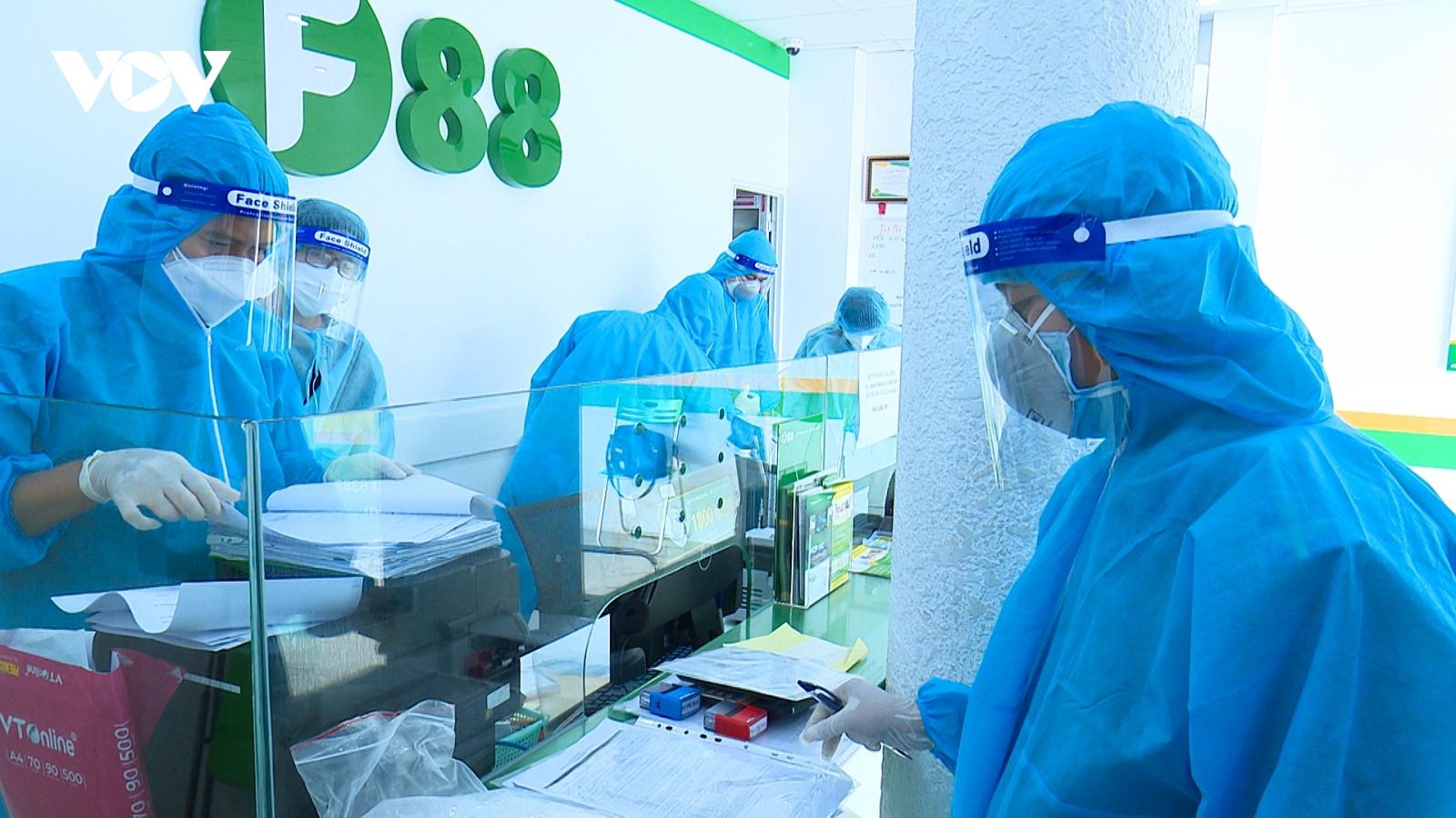 Khám xét chi nhánh Công ty F88 liên quan đến vụ án hình sự làm lây lan dịch Covid-19