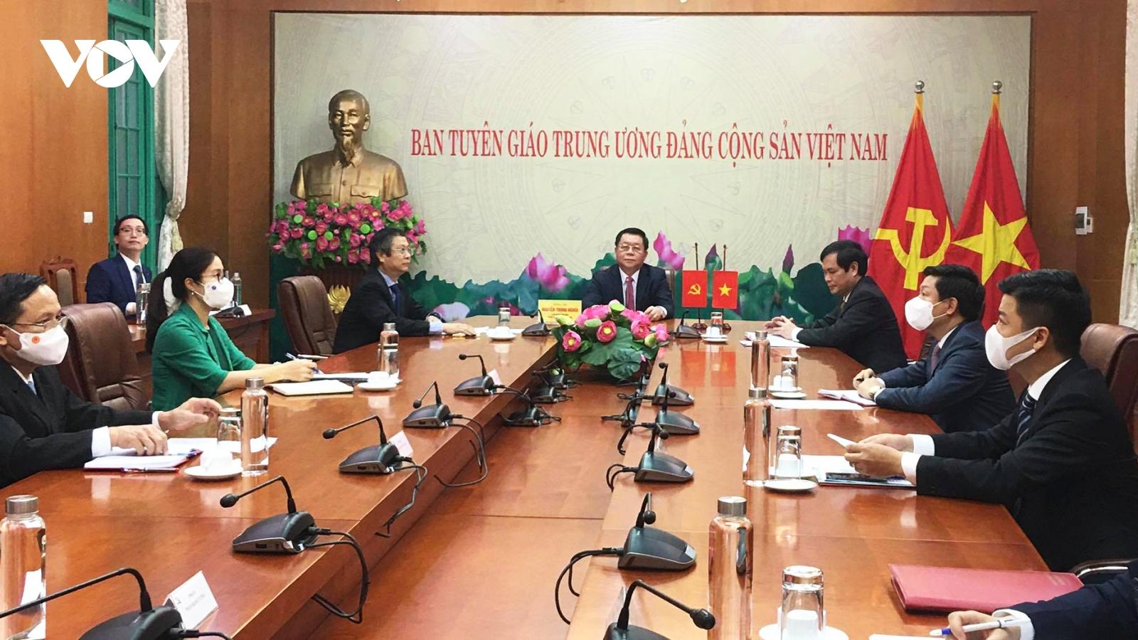Đẩy mạnh hợp tác Việt Nam – Trung Quốc về nghiên cứu lý luận, tuyên truyền