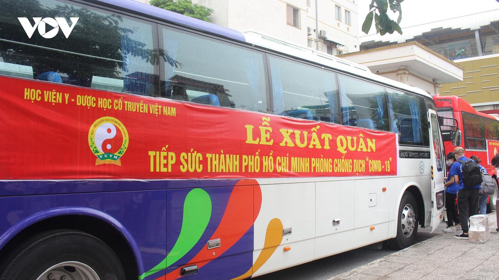 Học viện Y Dược học Cổ truyền Việt Nam lên đường vào hỗ trợ TP.HCM
