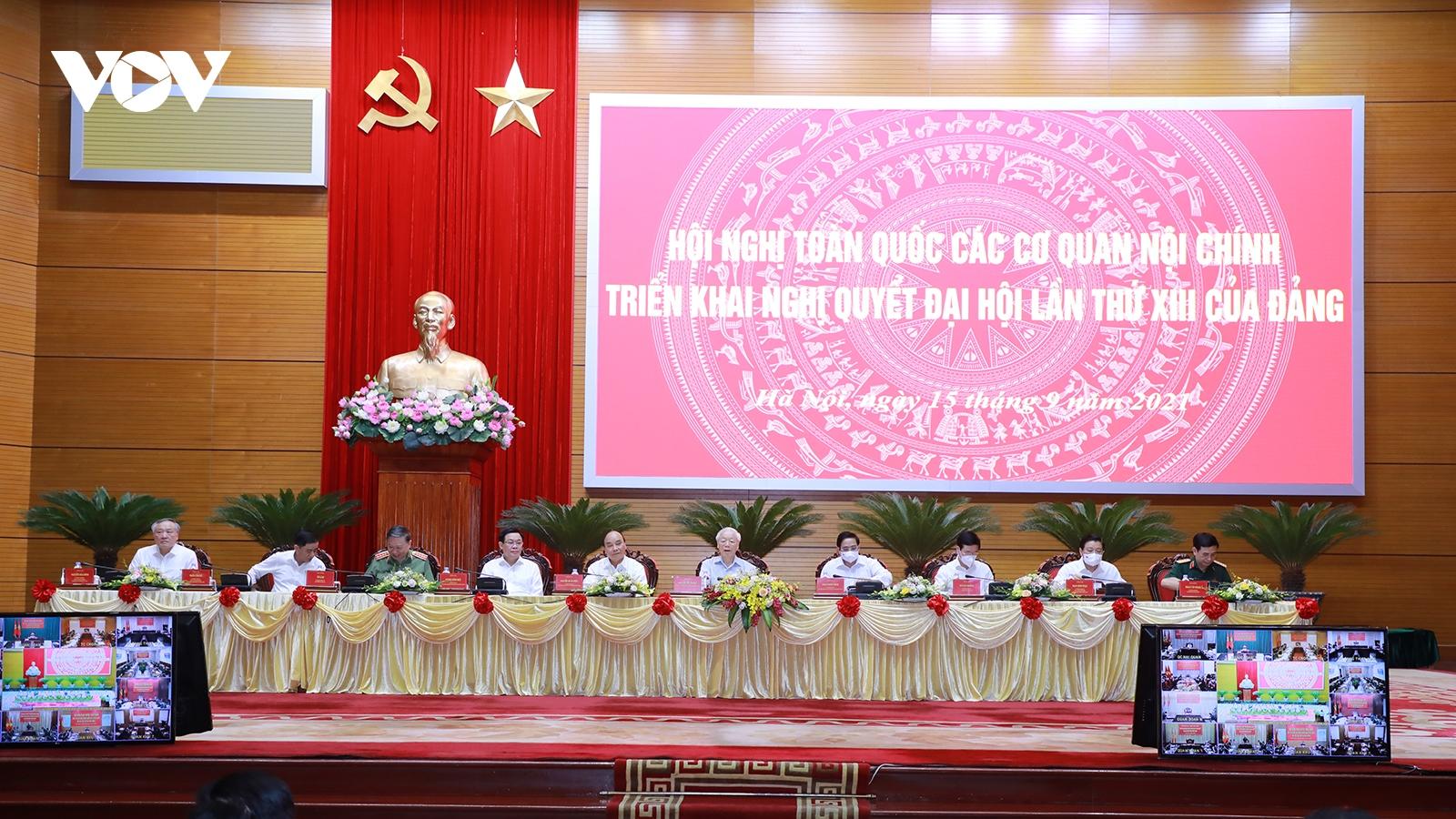 Tổng Bí thư: Các cơ quan Nội chính phải đẩy mạnh đấu tranh phòng, chống tham nhũng