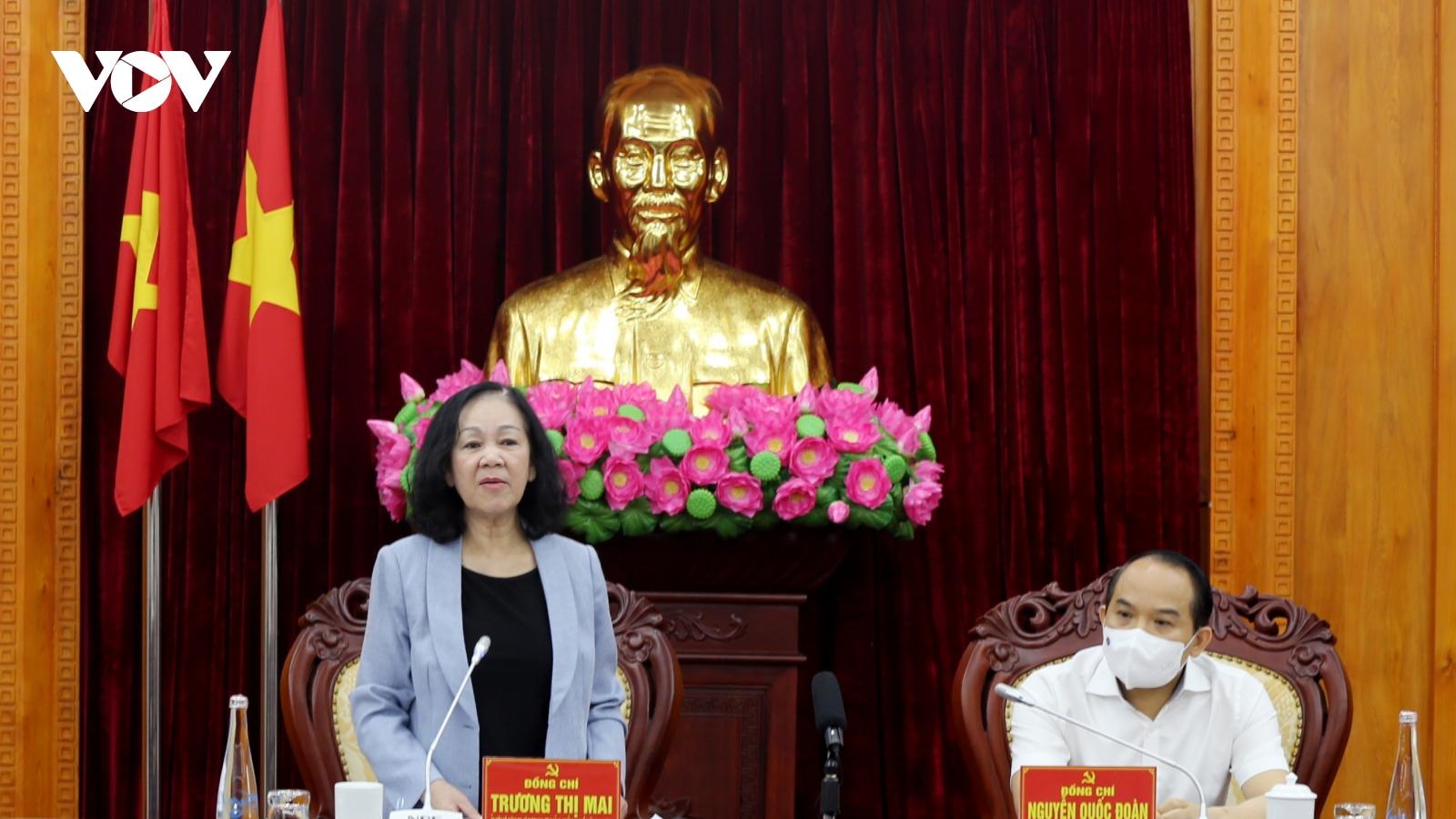 Trưởng Ban Tổ chức Trung ương làm việc với Ban Thường vụ Tỉnh ủy Lạng Sơn