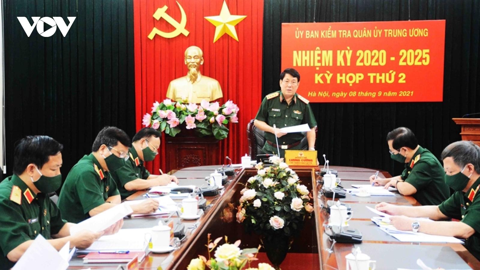 Ủy ban Kiểm tra Quân ủy Trung ương xem xét kỷ luật 7 quân nhân vi phạm