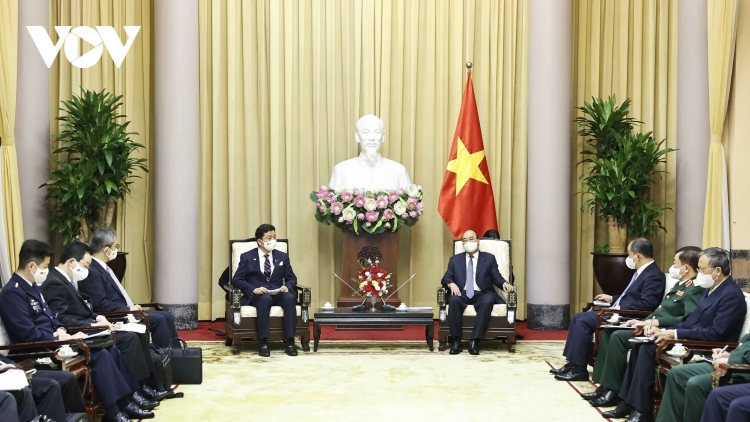 State President supports stronger Vietnam-Japan defence ties