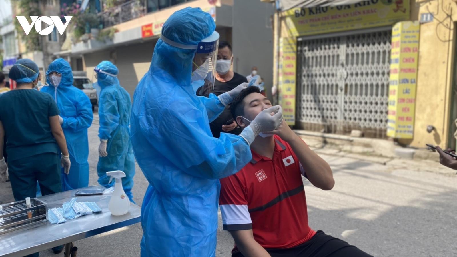 Thêm 1 F1 ở Long Biên (Hà Nội) dương tính với SARS-CoV-2