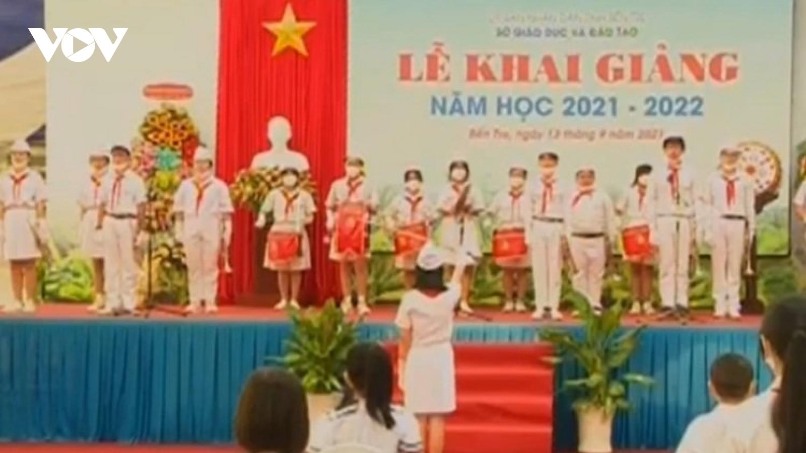 Bến Tre tổ chức Khai giảng năm học mới qua sóng truyền hình