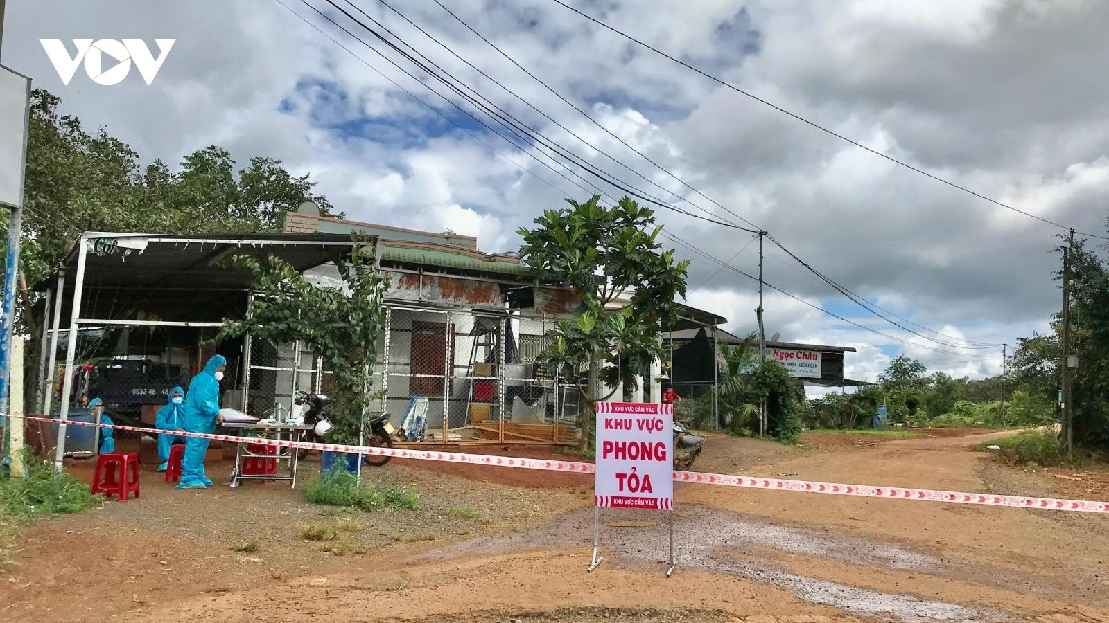 Đắk Nông phong tỏa, cách ly toàn huyện Đắk R'Lấp vì có ca mắcCovid-19 trong cộng đồng