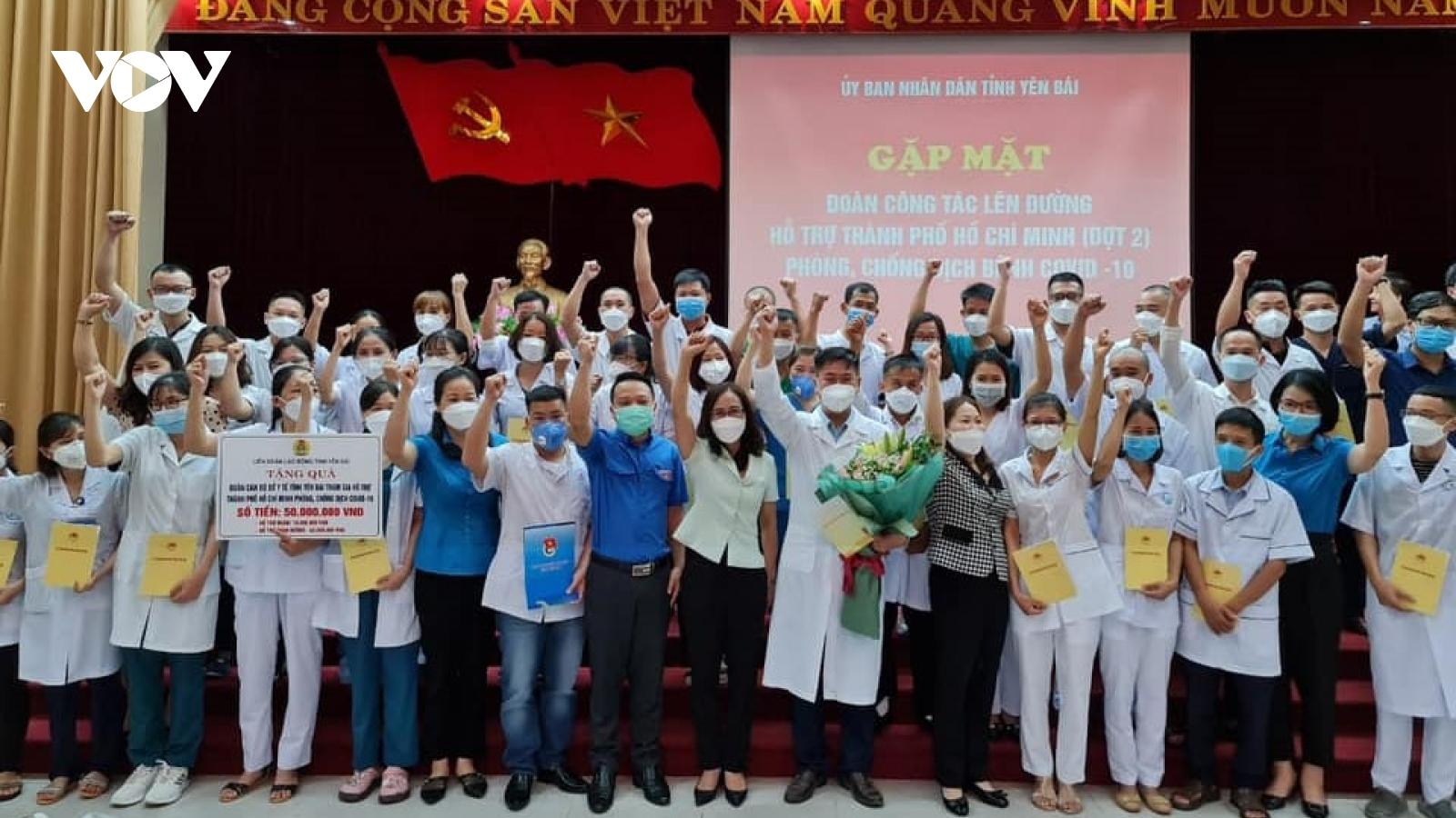 Yên Bái tiếp tục cử 40 thầy thuốc hỗ trợ TP.HCMchống dịch Covid-19