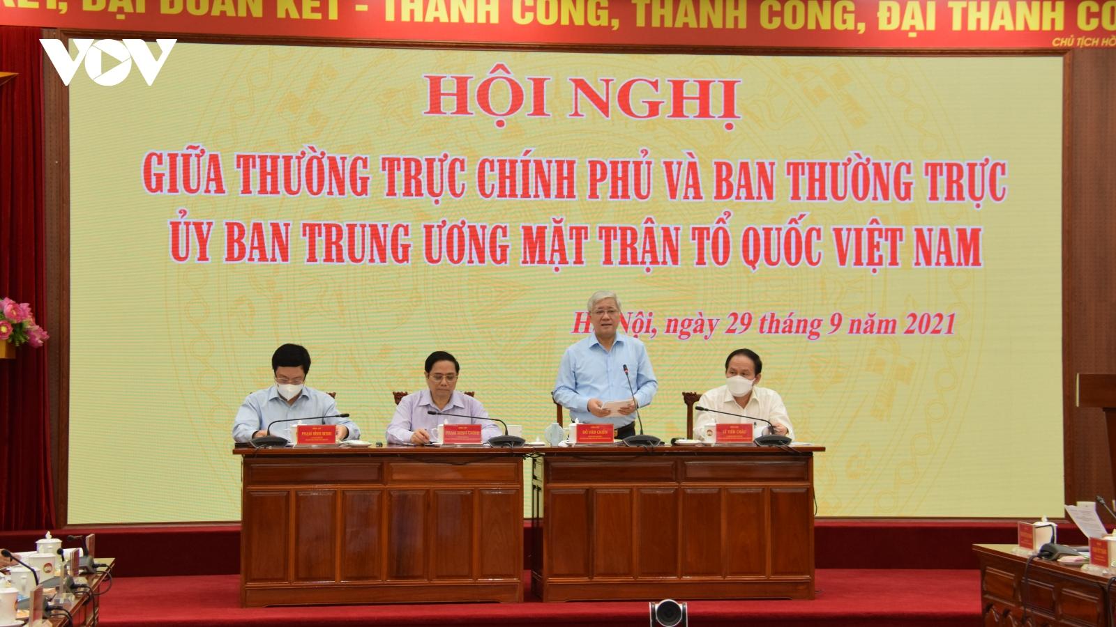 Thủ tướng: Mặt trận Tổ quốc Việt Nam cần phối hợp chặt chẽ hơn với Chính phủ