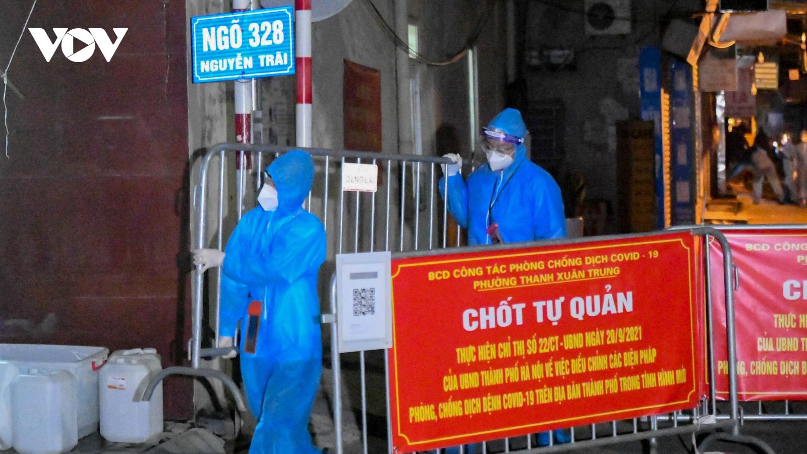 Hà Nội gỡ bỏ phong tỏa ngõ 328-330 đường Nguyễn Trãi, Thanh Xuân Trung