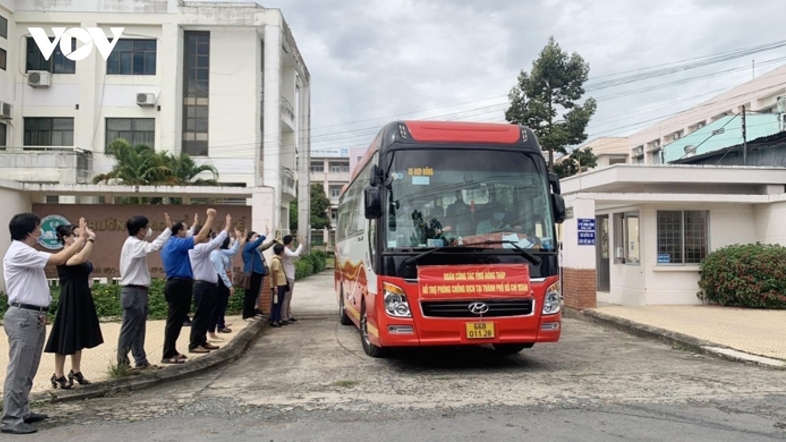 Đồng Tháp cử 202 nhân viên, sinh viên y tế chi viện cho TP.HCM chống dịch