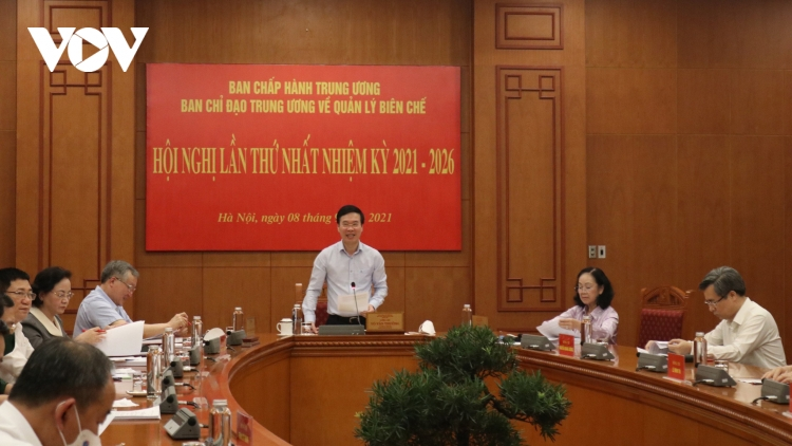 Ông Võ Văn Thưởng chủ trì hội nghị Ban Chỉ đạo Trung ương về quản lý biên chế