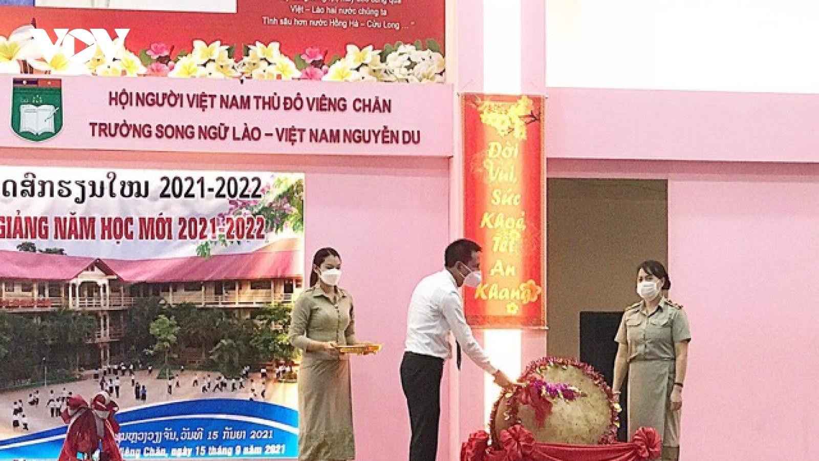Trường song ngữ Lào - Việt Nam Nguyễn Du khai giảng năm học 2021-2022