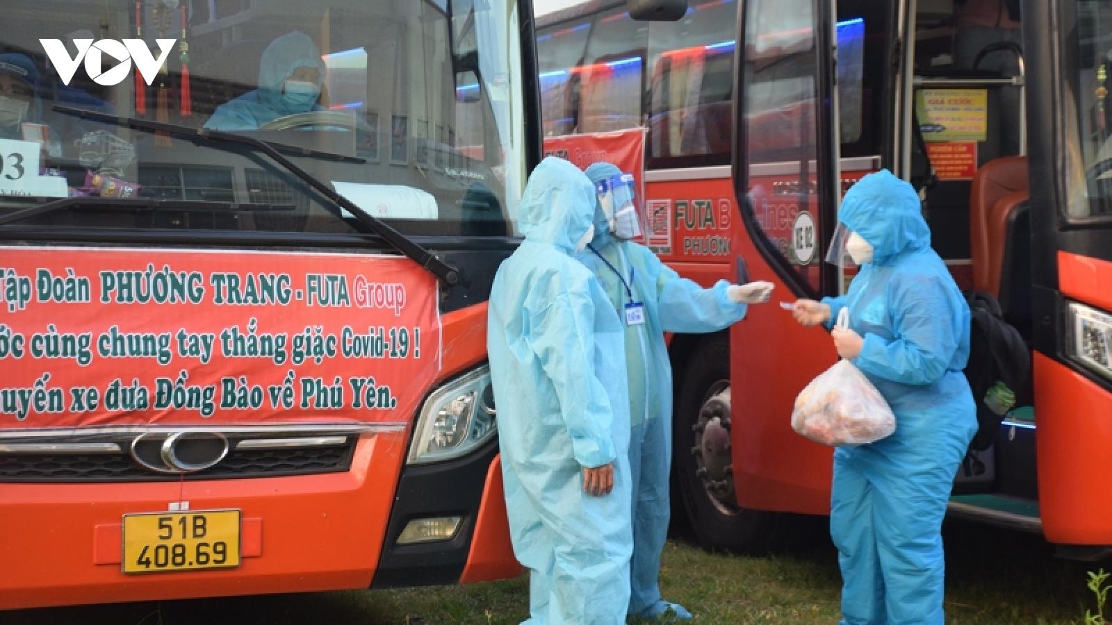 Lần đầu tiên Phú Yên đón công dân từ Bà Rịa - Vũng Tàu về quê