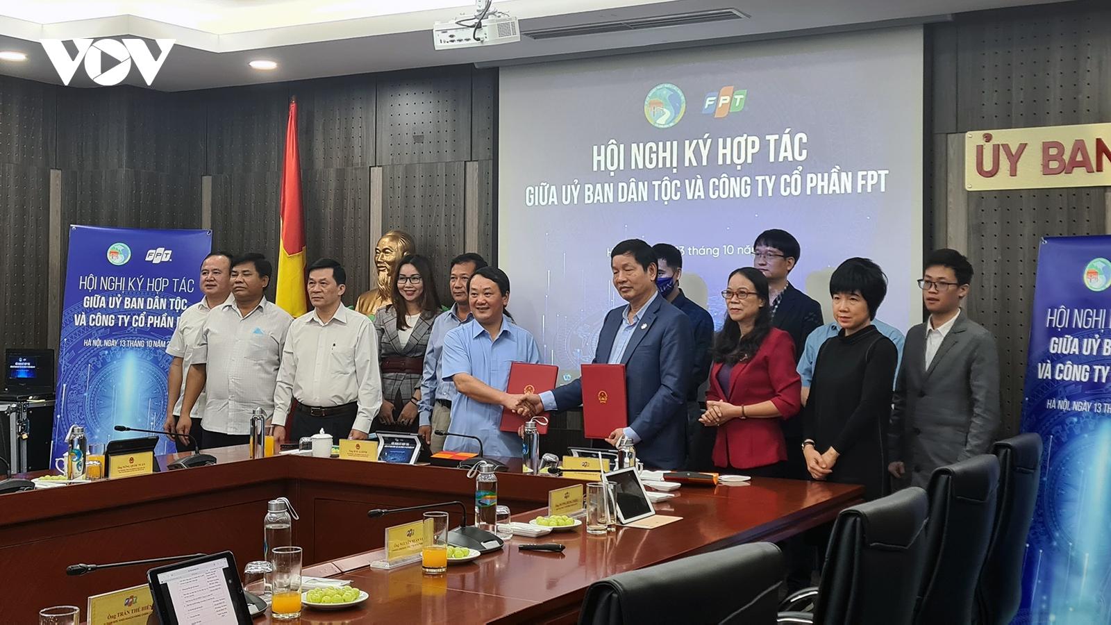 Ủy ban Dân tộc và Tập đoàn FPT ký kết thỏa thuận hợp tác chiến lược về chuyển đổi số