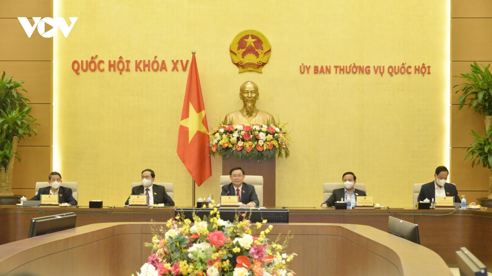 Chủ tịch Quốc hội chủ trì cuộc làm việc về công tác phục vụ kỳ họp Quốc hội