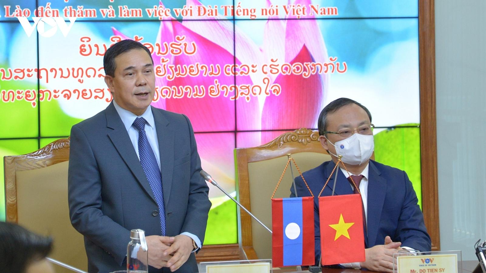 Đại sứ Lào tại Việt Nam đánh giá cao đóng góp của VOV cho quan hệ Việt-Lào