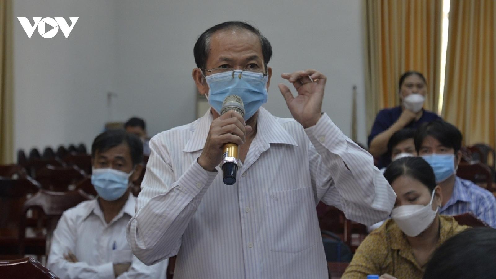 Cử tri Tây Ninh: Công tác chống dịch ở địa phương còn lúng túng