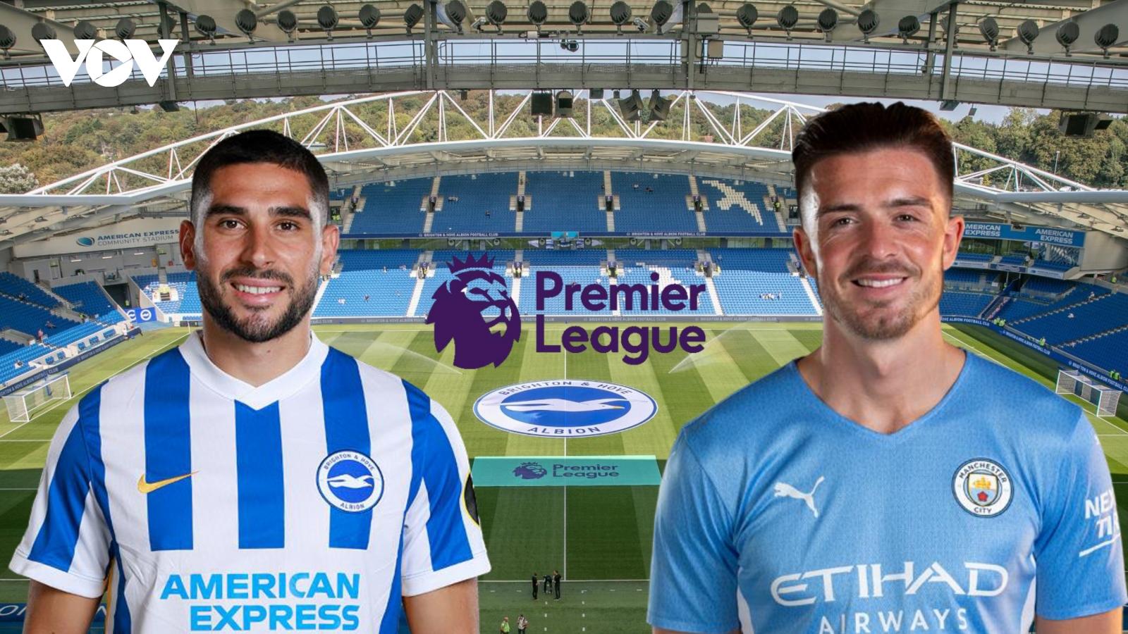 Dự đoán kết quả, đội hình xuất phát trận Brighton - Man City