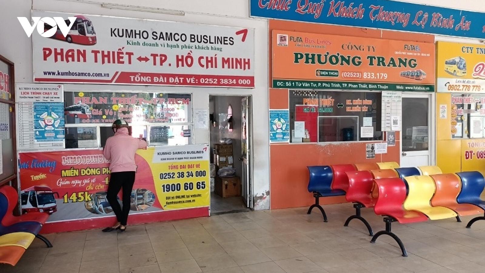Vận tải hành khách Bình Thuận: Người dân e dè, chủ xe phấp phỏng