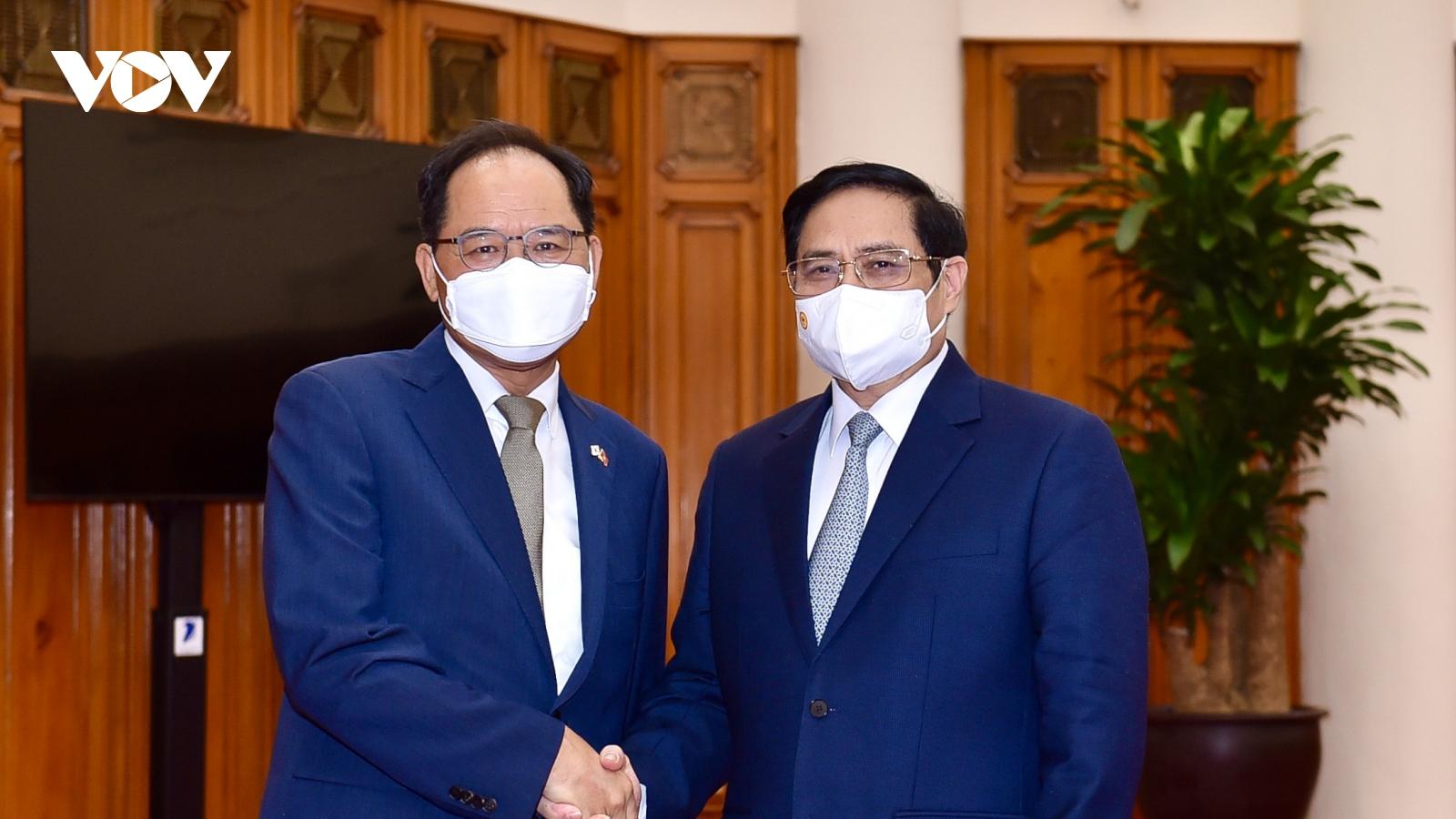 Thủ tướng đề nghị Hàn Quốc sớm bình thường hóa các hoạt động kinh tế với Việt Nam