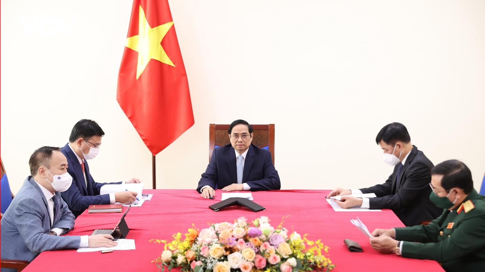 Thủ tướngPhạm Minh Chính điện đàm với Phó Tổng thống Thổ Nhĩ Kỳ Fuat Oktay