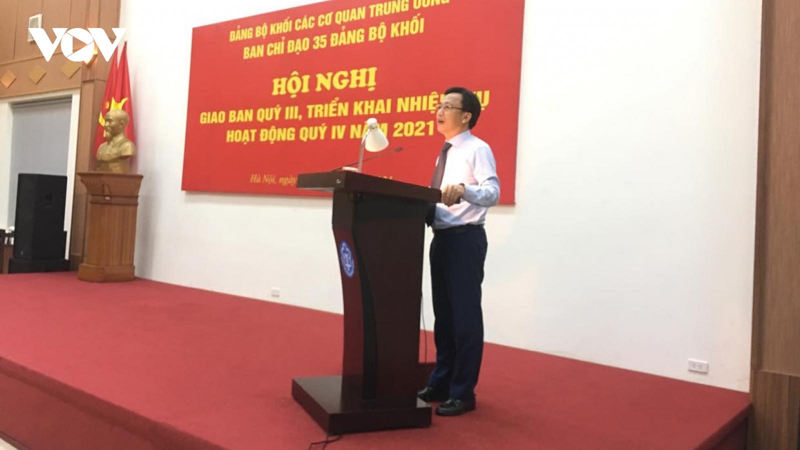 Hội nghị giao ban Ban Chỉ đạo 35 của Đảng ủy Khối các Cơ quan Trung ương