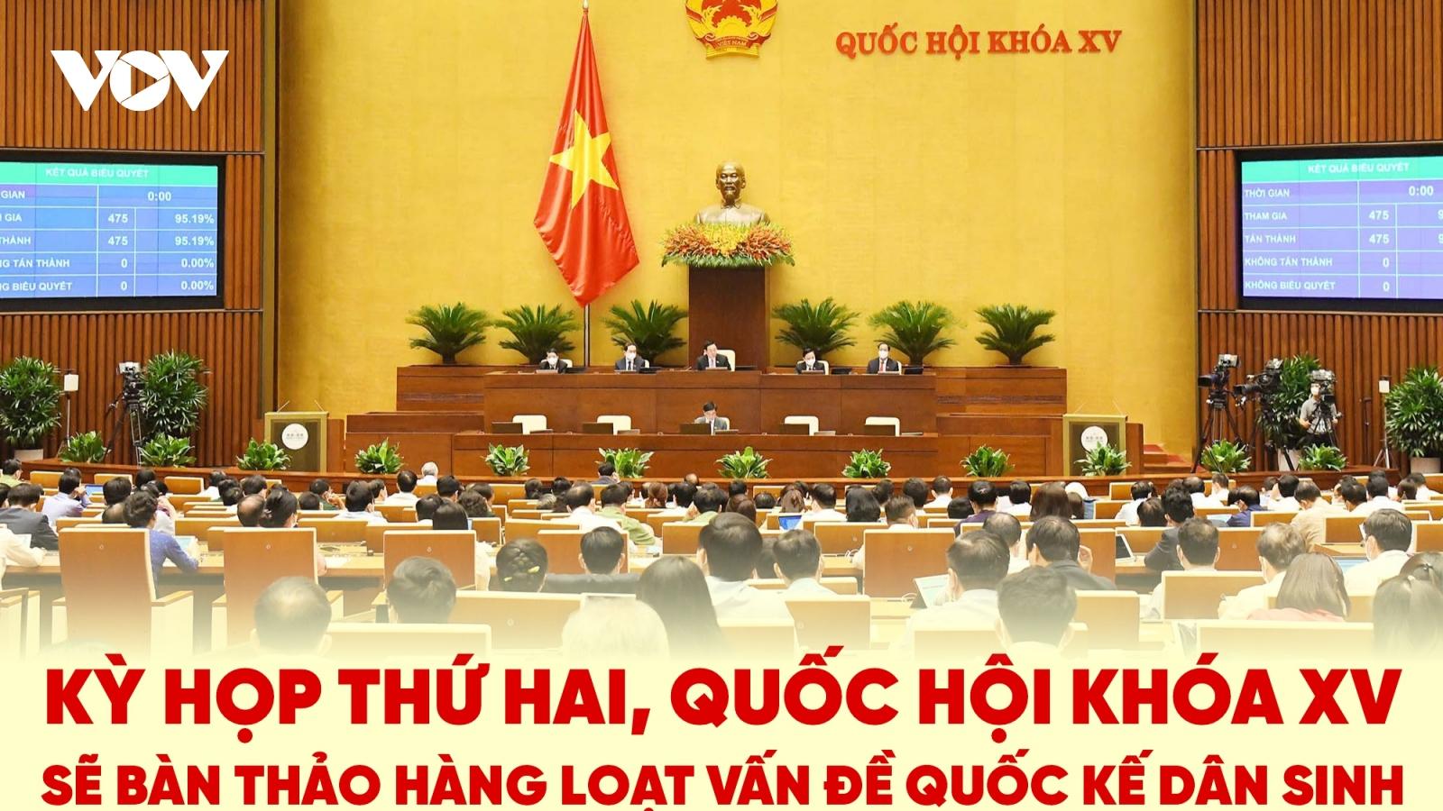 Kỳ họp thứ 2, Quốc hội khóa XV bàn thảo những vấn đề gì?