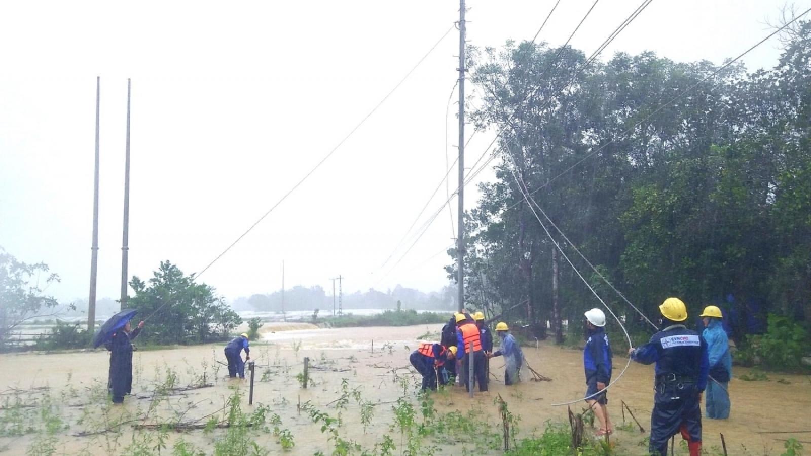 Khu vực A Vao (Quảng Trị) và Tây Giang (Quảng Nam) chưa thể khắc phụcmất điện sau mưa lũ
