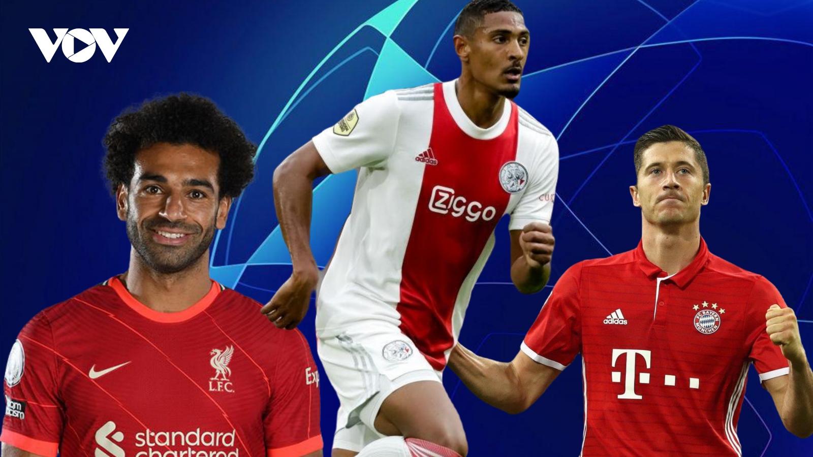 """Cuộc đua Vua phá lưới Champions League: Cầu thủ """"vô danh"""" vượt Salah và Lewandowski"""