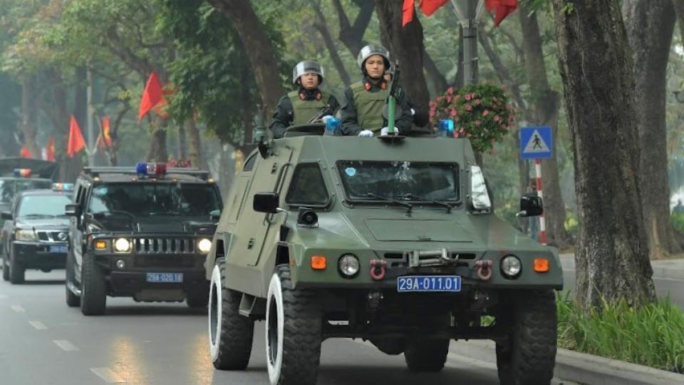Công an Hà Nội ra quân với 100% quân số để bảo vệ Đại hội Đảng lần thứ XIII
