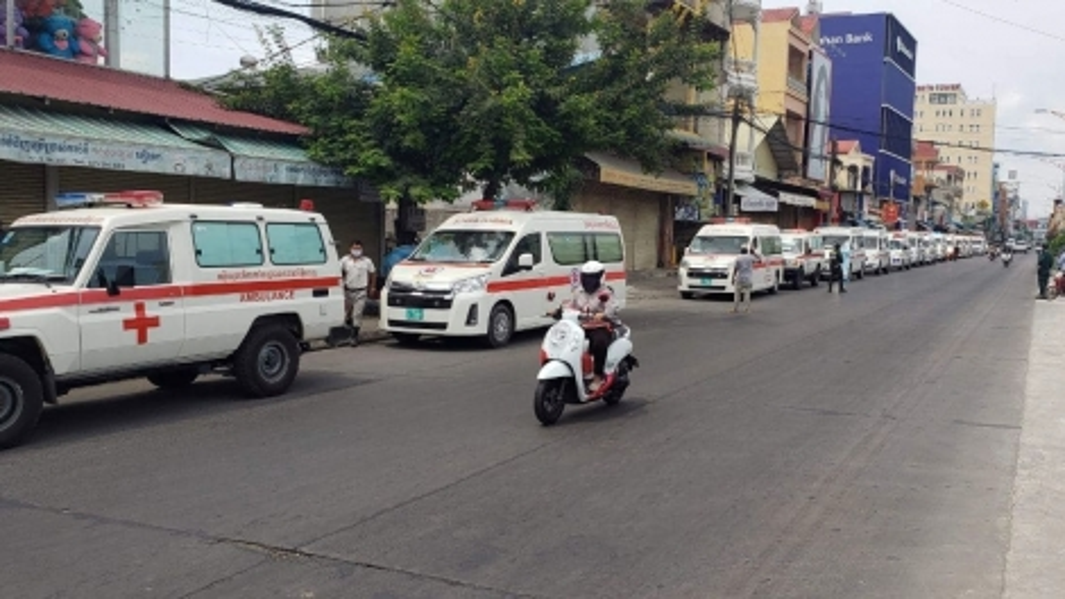Thủ đô Phnom Penh của Campuchia trong ngày đầu phong tỏa