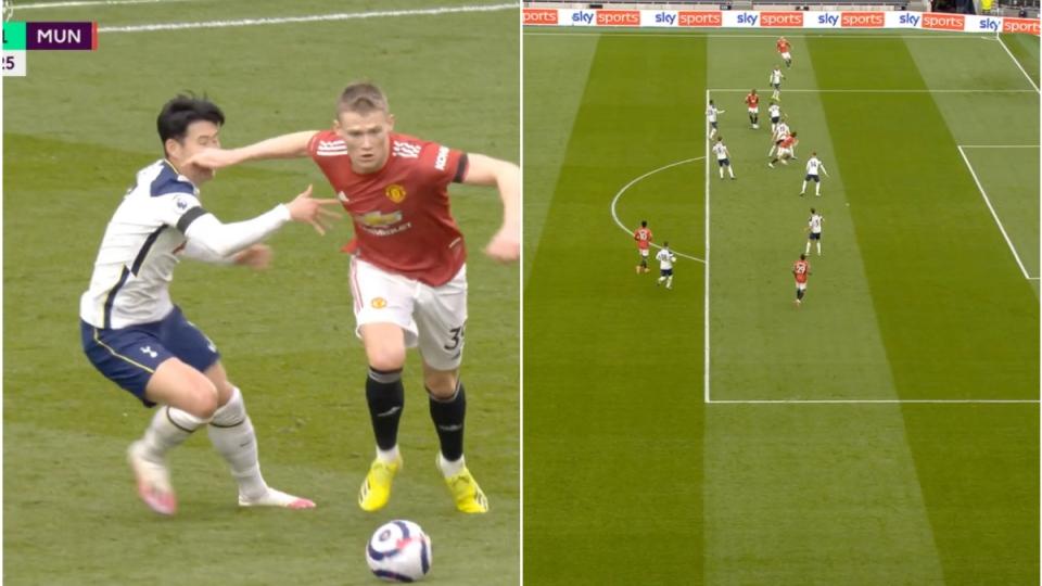 Cận cảnh: VAR từ chối bàn thắng của MU trước Tottenham