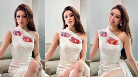Khanh Van looks confident in US for Miss Universe 2020