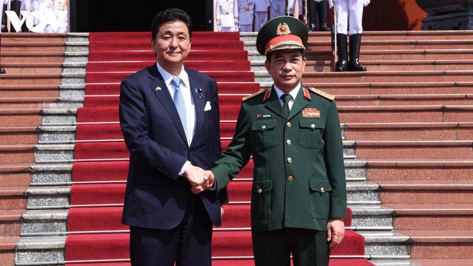 Bộ trưởng Phan Văn Giang chủ trì lễ đón Bộ trưởng Quốc phòng Nhật Bản