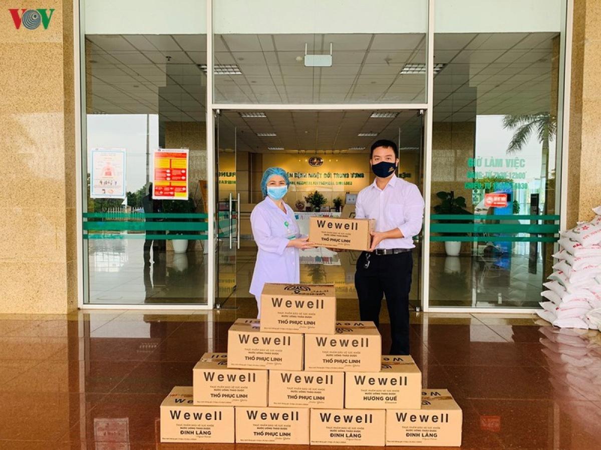 WEWELL tham gia chung tay đẩy lùi covid19 tại Bệnh viện Nhiệt đới Trung Ương cơ sở 2