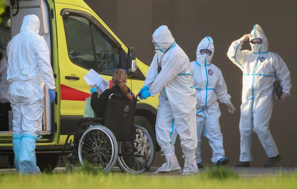 Nga ghi nhận dưới 9.000 ca nhiễm virus SARS-Cov-2 trong 24h. Ảnh: TASS.