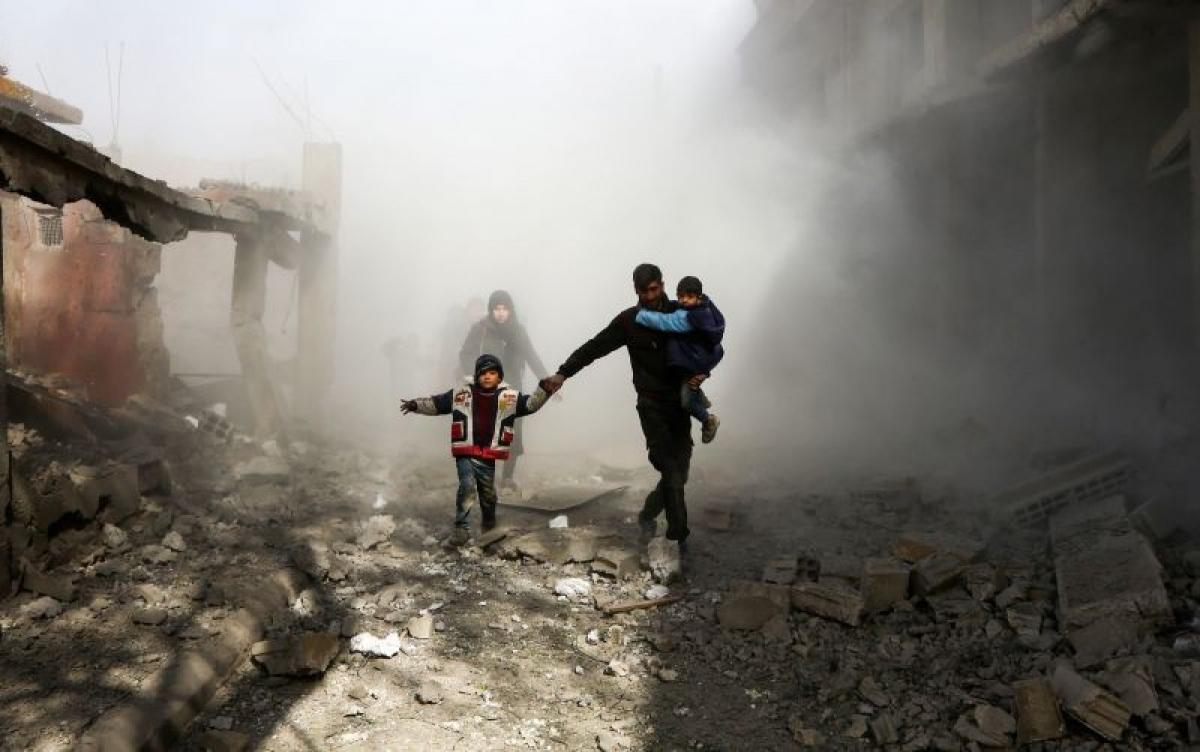 Các cuộc xung đột tại Syria đã khiến quốc gia Trung Đông này tan hoang. Ảnh: Reuters.