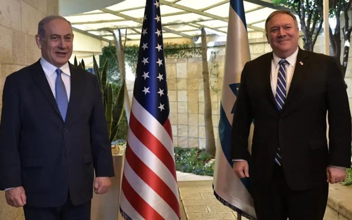 Ngoại trưởng Mỹ thăm Israel. Ảnh: JPost.