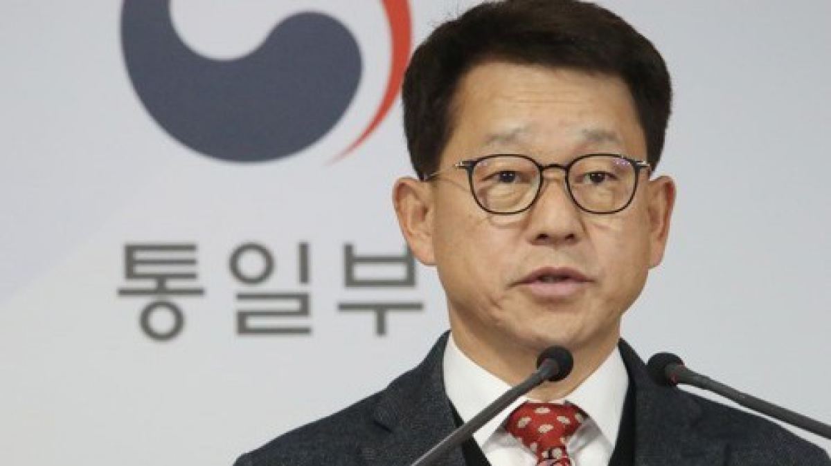 Người phát ngôn Bộ Thống nhất Hàn Quốc Yeo Sang-ki. Ảnh: Yonhap