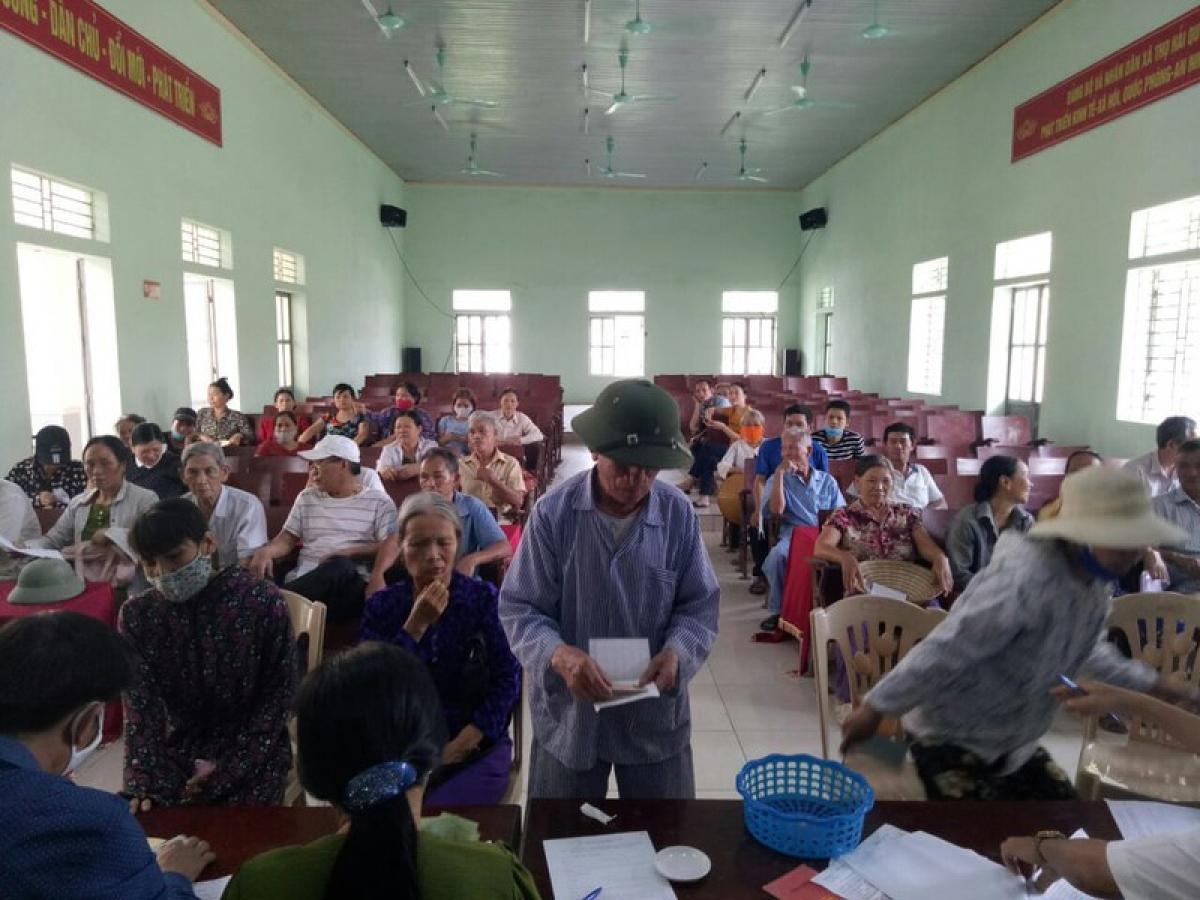 Huyện Thọ Xuân cơ bản hoàn thành chi trả 4 nhóm đối tượng đợt 1.