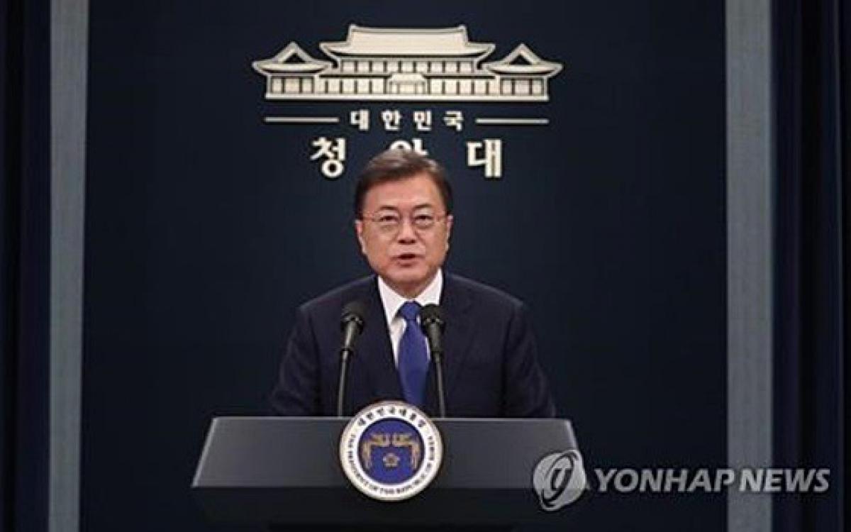 Tổng thống Hàn Quốc Moon Jae-in. Ảnh: Yonhap.