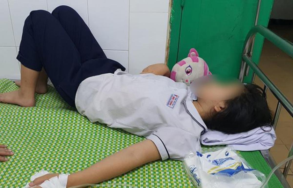 1/3 học sinh bị nặng được chuyến đến Bệnh viện Trẻ em Hải Phòng.