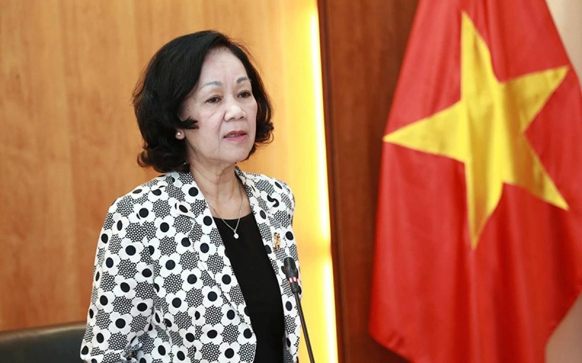 Trưởng ban Dân vận Trung ương Trương Thị Mai.